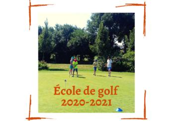 ÉCOLE DE GOLF, NOUVELLE SAISON !